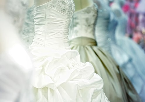 Wedding gowns dry cleaning